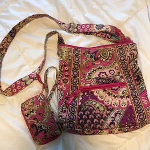 Vera Bradley crossbody and small wallet
